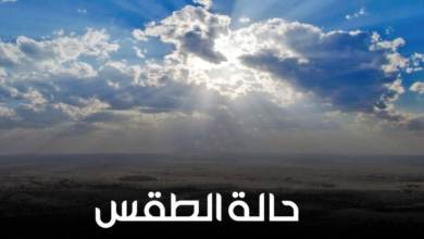 Photo of طقس اليوم مائل للدفء نهارا والعظمى بالقاهرة 22