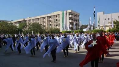 Photo of بالفيديو… طالبات تربية رياضية تشارك في حفل استقبال الطلاب الجدد بجامعة الزقازيق