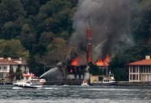 Photo of حريق ضخم في مسجد تاريخي بتركيا