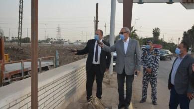 Photo of الهجان يتابع أعمال المرحلة الثانية من ممشى النيل وأعمال تطوير طريق طابا بمدينة بنها