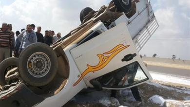 """Photo of إصابة 3 أشخاص فى تصادم سيارتين بصحراوى بنى سويف """""""