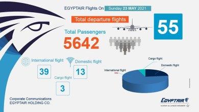 Photo of مصر للطيران تسير غدا 55 رحلة جوية لعدة دول