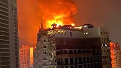Photo of حريق هائل ببرج ملاصق لفندق بانوراما بطنطا