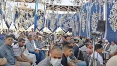 Photo of الطاروطي يحي عزاء إمام مسجد السيدة زينب بقراءة القرآن بقرية دملو مركز بنها