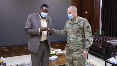 عبد الرحيم دلقو يبحث مع الملحق العسكري الأمريكي مستقبل التعاون المشترك