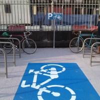 há um novo bicicletário municipal feito à maneira