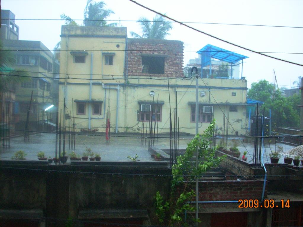 Summer Rain in Kolkata - beginnning