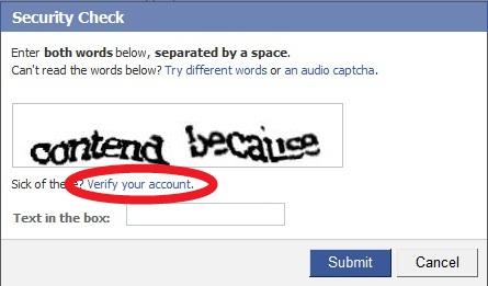 facebook captcha 2