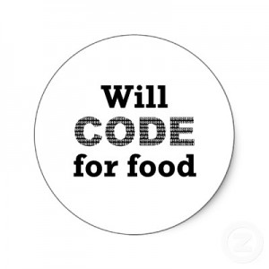 will code for food circle