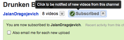 Get Notification of new uploads by a particular Youtube Channel via email