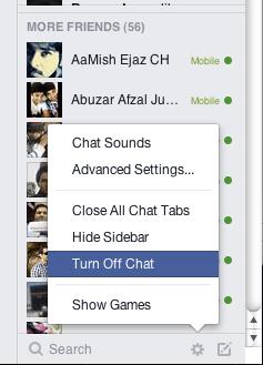 appear offline on facebook