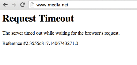 media net request timeout