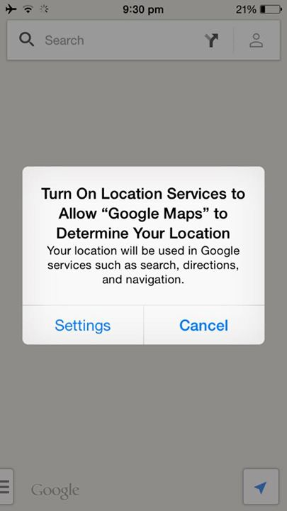 Location services disabled after iOS 8 update on iPhone