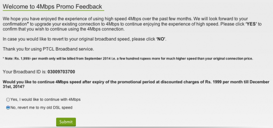ptcl 4mbps feedback