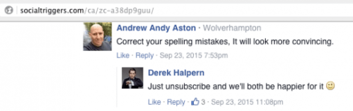 derek spelling mistakes