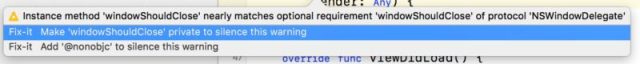 swift terminate application on window close