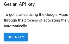 get new google api key