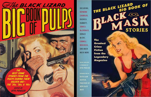 "Pulp magazine covers almost inevitably contained ""a beautiful young woman looking menaced, waiting for a man to come save her,"" says Otto Penzler, editor of The Black Lizard Big Book of Pulps. Book design by Christopher M. Zucker/Courtesy Vintage Books"