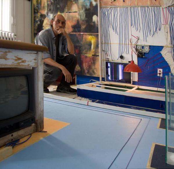 Figure 16: John Naccarato, Vertebra, Part 2: The Skinning of Memory (VP2) 20'W x 17'H x 16'D. Immersive, Trans-media, Installation. Partial overview of VP2: right top. Artist Studio, University of Ottawa, Ottawa, Canada 2009
