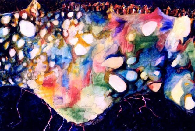 "Underground, Naccarato, Acrylic on Canvas, 48"" x 36"", Toronto, 1996"