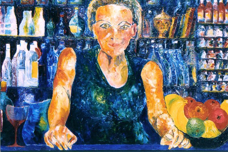 "The Green Room, Naccarato, Oil on Canavas, 24' x 36"", Toronto, 1999"