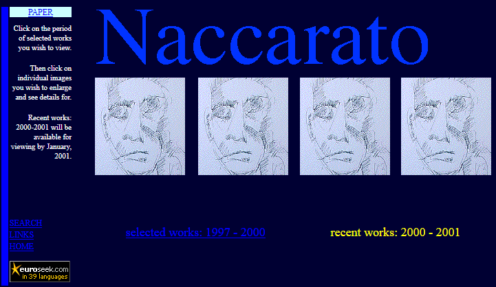 Naccarato.org Website, Wayback Machine, Internet Archive, 2001
