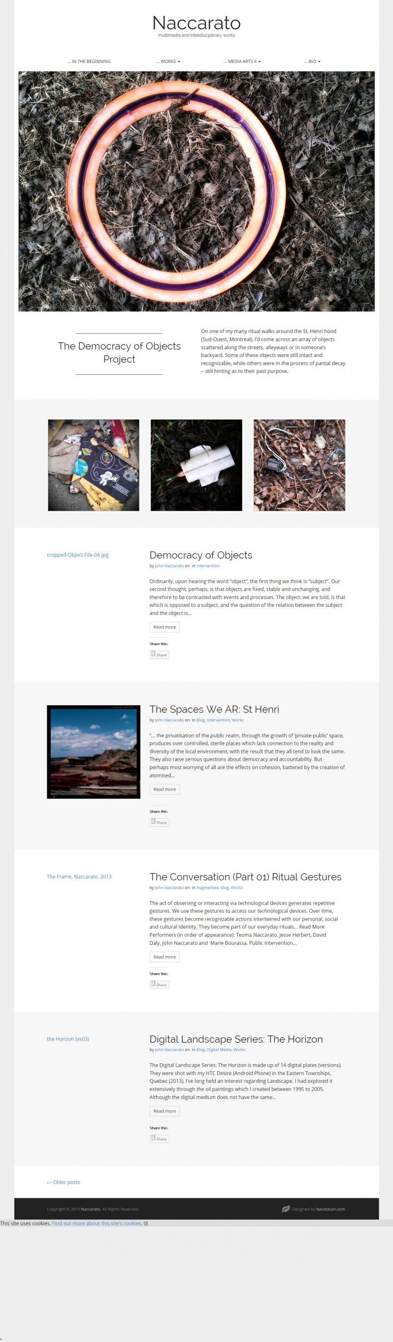 Naccarato.org Website, Wayback Machine, Internet Archive, July, 2015