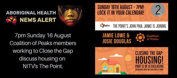 Feature Image tile - Aboriginal Health News Coalition of Peaks Close the Gap Interview Save the Date NITV The Point