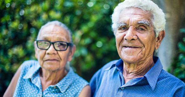 Aboriginal woman and man both 50+ years
