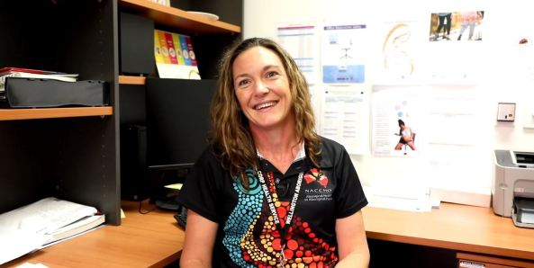 screen shot from video of pharmacist Alice Nugent Wellington Aboriginal Corporation Health Service & NACCHO Medicine Policy & Program team