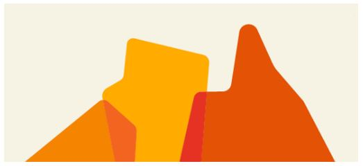 top of map of Australia vector image, 3 segments light orange WA, yellow NT & dark orange QLD, overlaid at edges