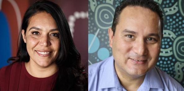 portrait shots of Dr Janine Mohamed & Karl Briscoe