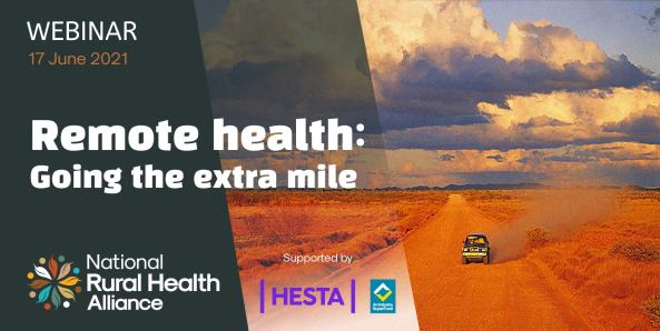 NRHA Webinar - Remote Health: Going the extra mile.