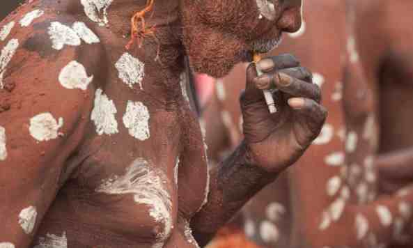 Half of Aboriginal adults in the Northern Territory. are daily smokers. Photograph: Dave Hunt/AAP.