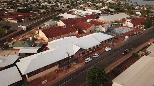 aerial view of new Carnarvon residential care facility being built