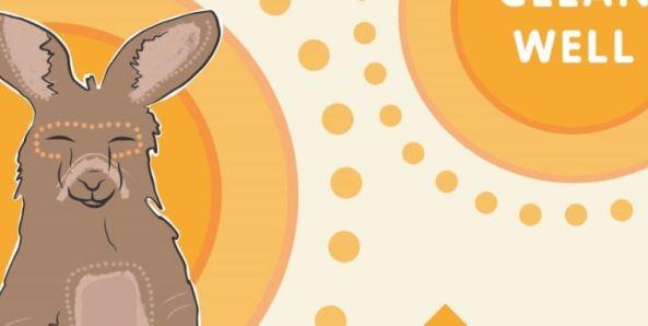 Dirran the Kangaroo drawing for Dental Health Week