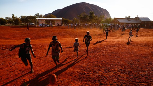Kids playing in remote community. Image credit: Brisbane Times.