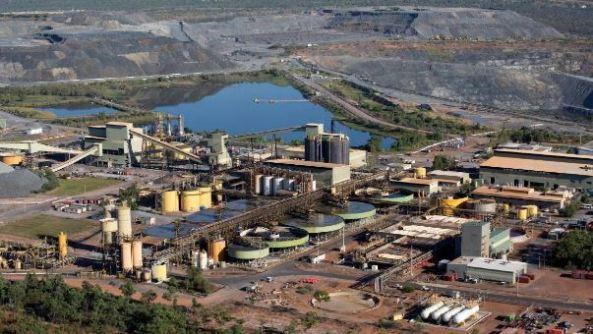 aerial shot of Ranger uranium mine, NT