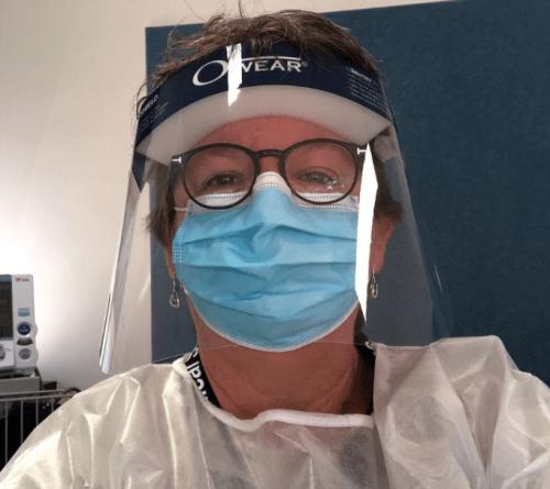 Professor Rhonda Wilson, contributing to the pandemic response at Walgett recently. Image source: Croakey Health Media.