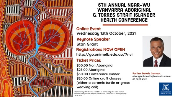 2021 Ngar-wu Wanyarra Aboriginal and Torres Strait Islander Health Conference.