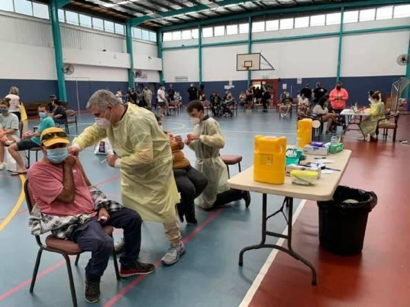 Windale NSW pop-up clinic inside huge hall