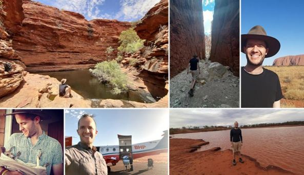 6 photos taken by GP Jean-Baptiste Philibert of outback