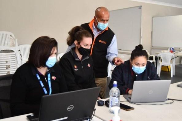 Orange Aboriginal Medical Service CEO Jamie Newman and staff at the Kelso Community Hub. Photos: Rachel Chamberlain.