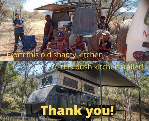 old camp kitchen, new trailer kitchen
