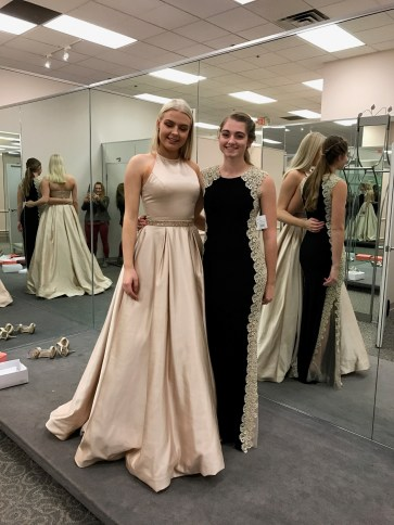 Trying on Prom dresses!