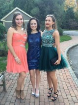 AYP student Natalia with friends before prom.