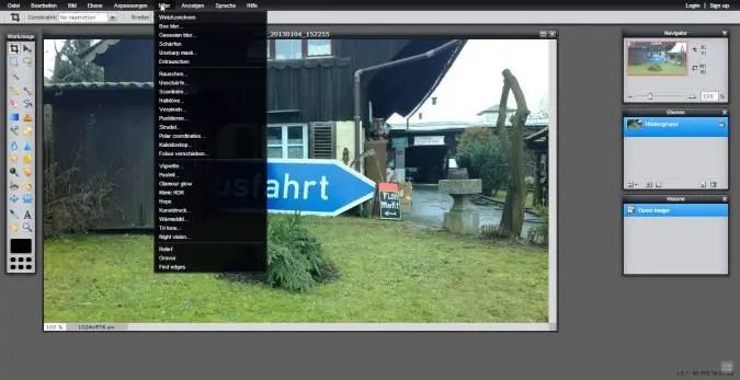 """Der """"große"""" pixlr Online-Editor"""