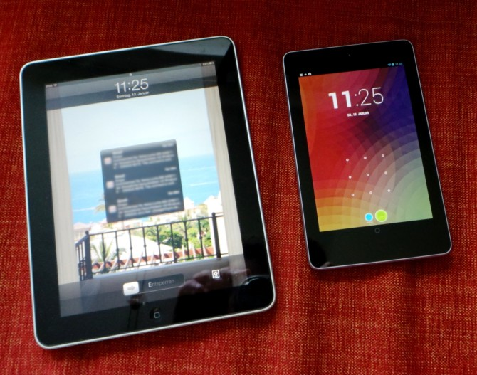 Nexus 7 vs. iPad