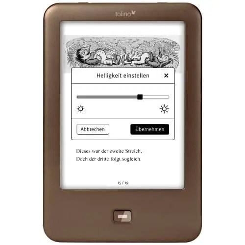 Der Tolino Shine E-Book Reader