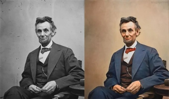 Abe Lincoln in Farbe (via http://www.rsvlts.com)